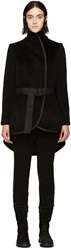 Denis Gagnon Black Wool Wrap Vest