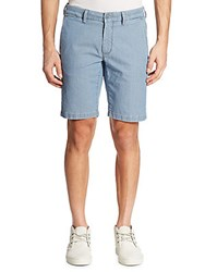 Saks Fifth Avenue Collection Pin Dotted Shorts Stone Blue