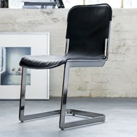 Cb2 Rake Black Nickel Chair