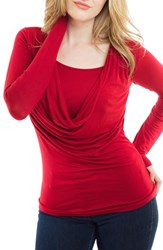 Women's Nurture Elle Cowl Neck Long Sleeve Nursing Top