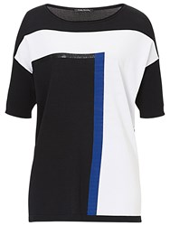 Betty Barclay Abstract Print Top Black White