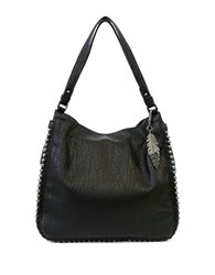 Jessica Simpson Camlle Faux Leather Hobo Bag Black