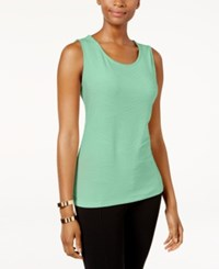 Jm Collection Petite Jacquard Tank Only At Macy's Mint Julip