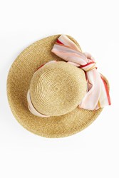 Missoni Women S Srarf Detail Beach Hat Boutique1 Beige