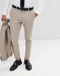 Selected Homme Super Skinny Wedding Suit Trousers Stone