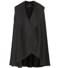 Burberry Military Wool Cape Black