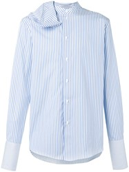 J.W.Anderson Beach Striped Scarf Shirt Blue