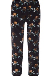Thakoon Addition Floral Print Silk Crepe Tapered Pants