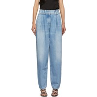 Balmain Blue High Waisted Tapered Jeans