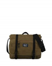 Original Penguin Waxed Canvas Messenger Bag Dusty Olive