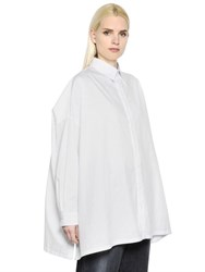 Y's Oversized Cotton Poplin Shirt