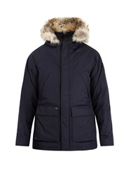 Nobis Heritage Fur Trimmed Down Filled Parka Navy