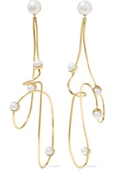 Cornelia Webb Gold Plated Pearl Earrings One Size