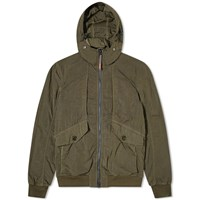 Baracuta X Sebago Four Pocket Gd Nylon Jacket Green