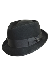 Dorfman Pacific 'Diamond' Crushable Felt Fedora Black