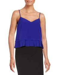 French Connection Pleat Hem Camisole Blue