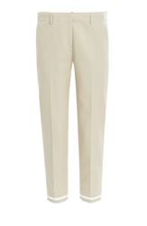 Victoria Beckham Cotton Twill Cropped Pants