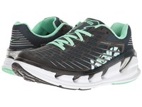 Hoka One One Vanquish 3 Midnight Navy Spring Bud Running Shoes Black