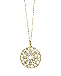 18K Gold Yellow Sapphire And Rock Crystal Kaleidoscope Pendant Necklace Monica Rich Kosann