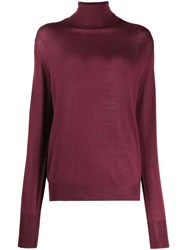 Ma'ry'ya Roll Neck Sweater Red