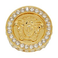 Versace Gold Crystal Oversized Ring