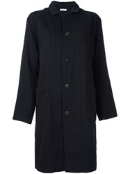 Plantation Shawl Lapel Midi Coat Black