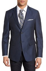 Men's Jack Spade Trim Fit Herringbone Linen And Cotton Sport Coat