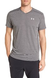 Under Armour Men's Threadborne Streaker Running T Shirt Carbon Heather Reflective
