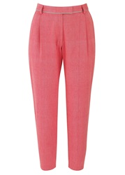 People Tree Sherry Cropped Trousers Coral