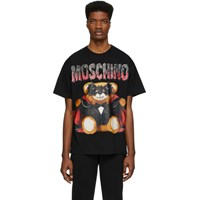 Moschino Black Bat Teddy Bear T Shirt