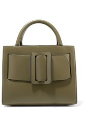 Boyy Bobby23 Small Leather Tote Army Green
