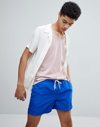 Selected Homme Swim Shorts Surf The Web Blue
