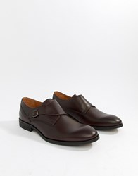 Zign Monk Shoes In Burgundy Leather Red