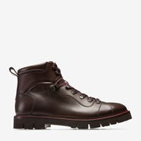 Bally Men's Calf Leather Hiking Boot In Coconut Brown