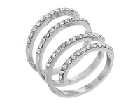 Guess Pave Wrap Ring Silver Crystal Ring