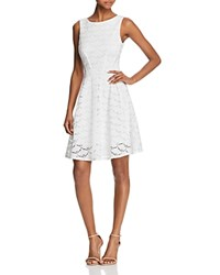 Aqua V Back Lace Fit And Flare Dress 100 Exclusive Off White