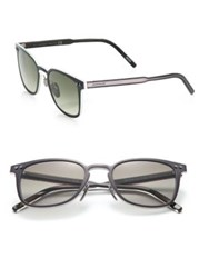 Montblanc 51Mm Metal Logo Sunglasses Matte Green