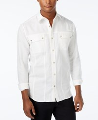 Sean John Men's Lightweight Long Sleeve Shirt Sj Cream