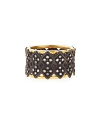 Armenta Double Crivelli Wide Band Ring Gold