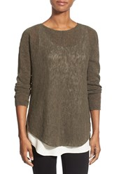Women's Eileen Fisher Ballet Neck Tunic Sweater Oregano
