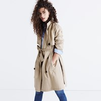 Madewell Abroad Trench Coat Dark Rope