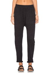 Michael Lauren Adan Drop Crotch Roll Up Pant Black