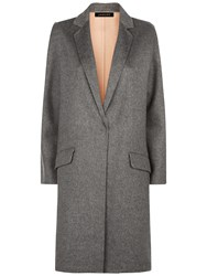 Jaeger Wool Double Faced Angled Coat Grey Melange
