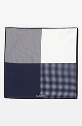 Men's J.Z. Richards Silk Pocket Square Blue Navy