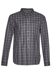 French Connection Men's Lifeline Ombre Check Shirt Blue