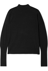 Atm Anthony Thomas Melillo Merino Wool Sweater Black