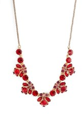 Marchesa Crystal Necklace Red Multi Gold
