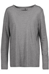 Enza Costa Stretch Jersey Top Anthracite