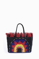 Sensi Studio Women S X Chiara Totire Veva Straw Bag Boutique1 Black