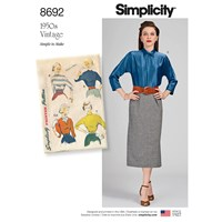 Simplicity Blouse And Dickey Sewing Pattern 8692